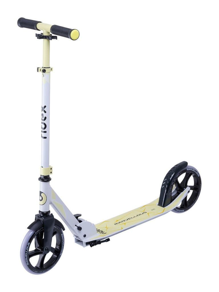 Самокат Ridex Marvellous 200mm White-Yellow УТ-0001835
