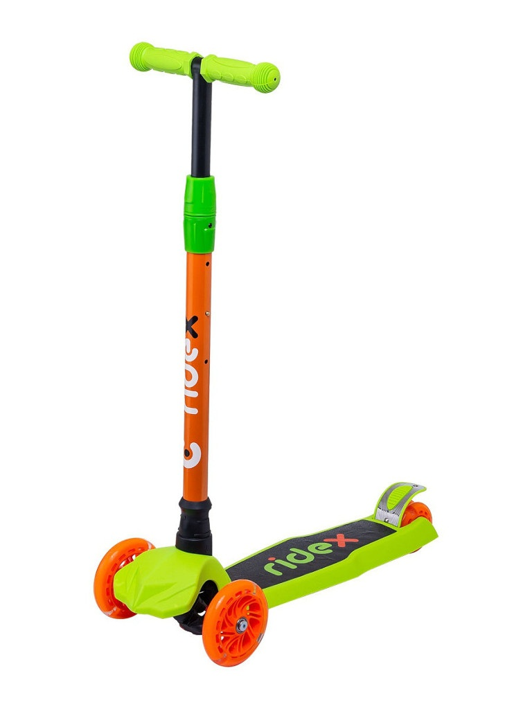 Самокат Ridex Chip 120/80mm Orange-Green УТ-00018422