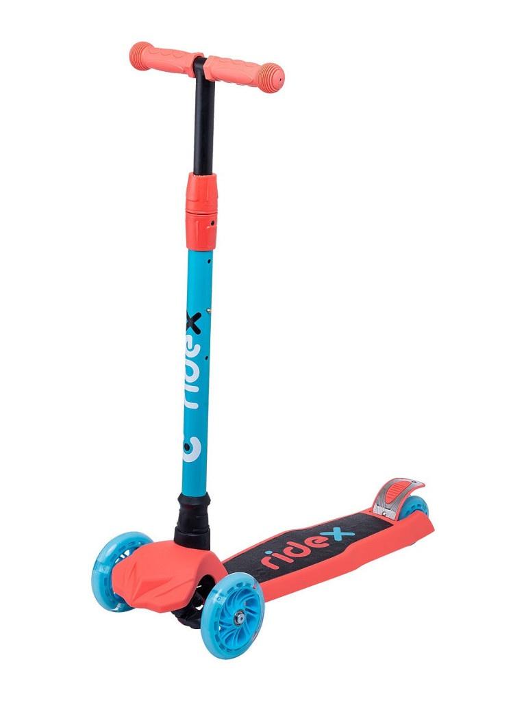 Самокат Ridex Chip 120/80mm Blue-Coral УТ-00018420