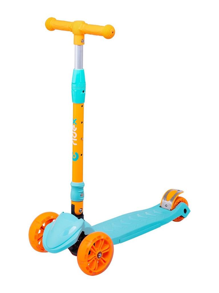 Самокат Ridex Bunny 135/90mm Blue-Orange УТ-00018425