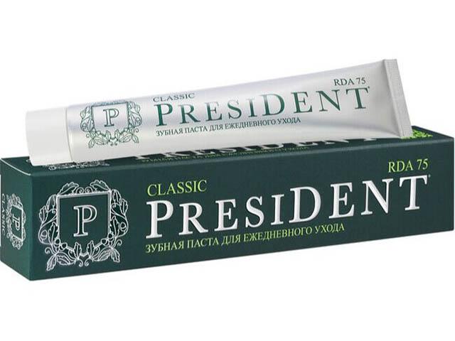 Зубная паста President Classic 75ml 110277