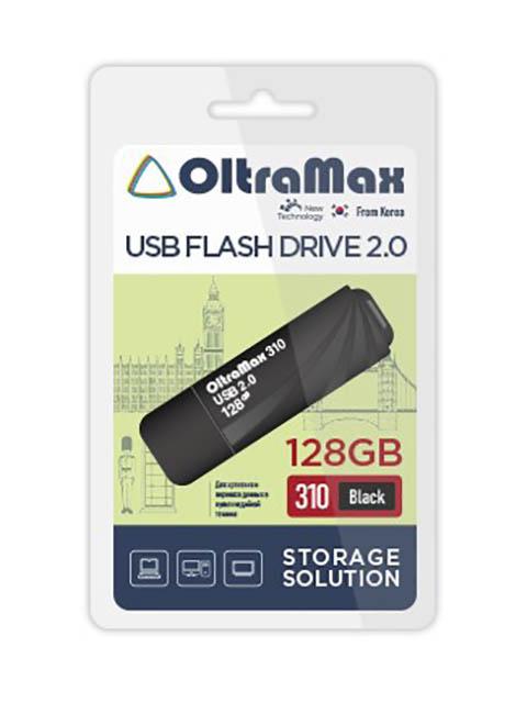 Фото - USB Flash Drive 128Gb - OltraMax 310 2.0 Black OM-128GB-310-Black usb flash drive 64gb oltramax 310 om 64gb 310 black