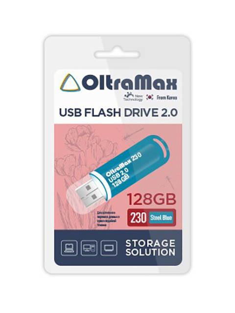 USB Flash Drive 128Gb - OltraMax 230 2.0 Steel Blue OM-128GB-230-Steel