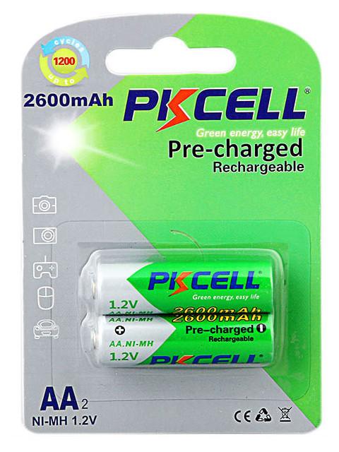 Аккумулятор AA - Pkcell 1.2V 2600mAh NI-MH RTU AA2600-2B (2 штуки)