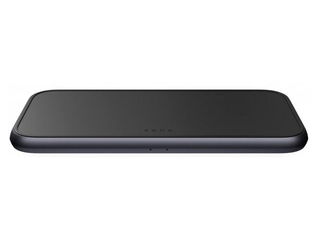 Зарядное устройство Zens Aluminium Dual Fast Wireless Charger 5 coils Black 45W ZEDC11B/00