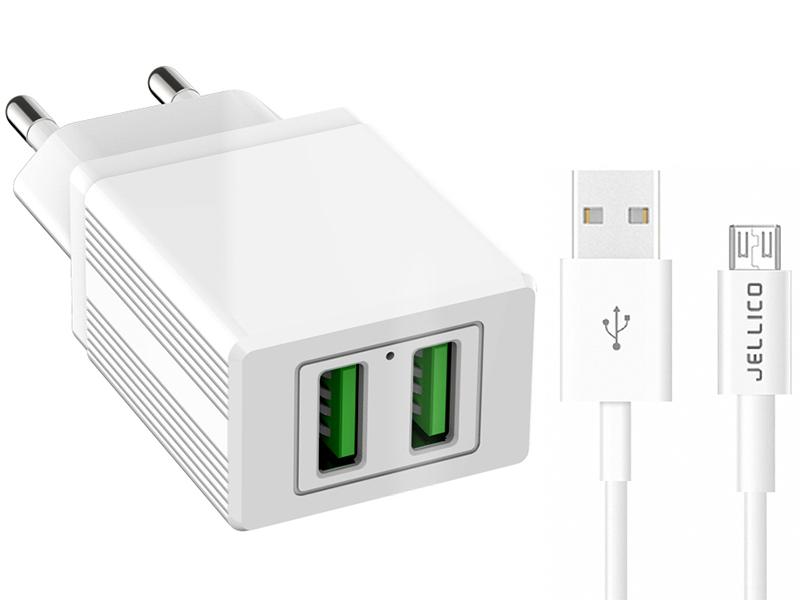 Фото - Зарядное устройство Jellico E26-5 2xUSB 2.1A + кабель MicroUSB зарядное устройство defender upc 21 2xusb кабель microusb 83581