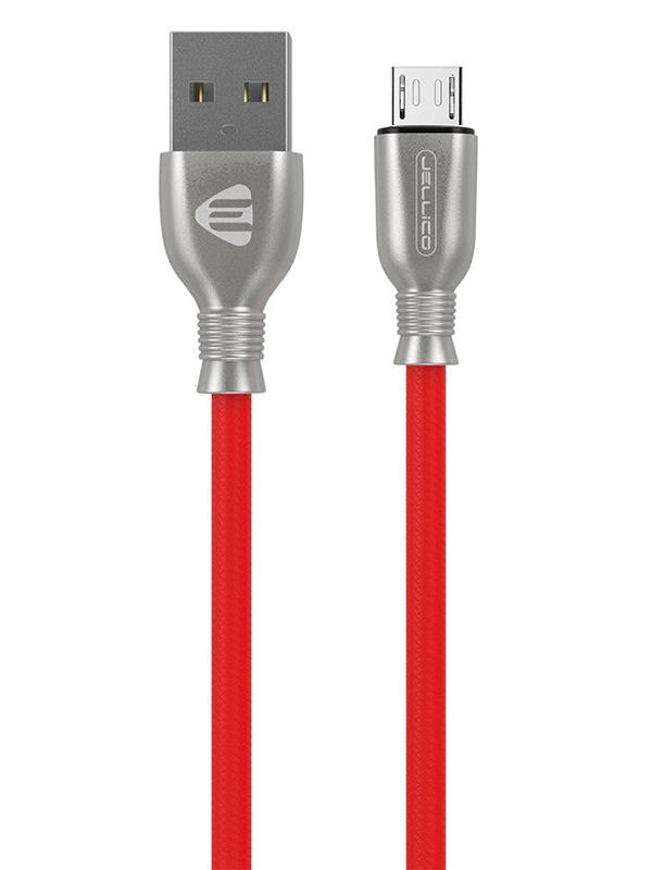 Фото - Аксессуар Jellico KDS-60 USB - MicroUSB 1m Red аксессуар jellico kds 65 usb lightning 1m white