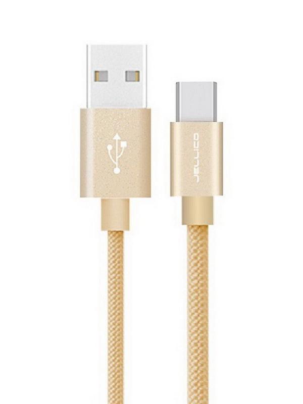Аксессуар Jellico GS-20 USB - Type-C 2m Gold