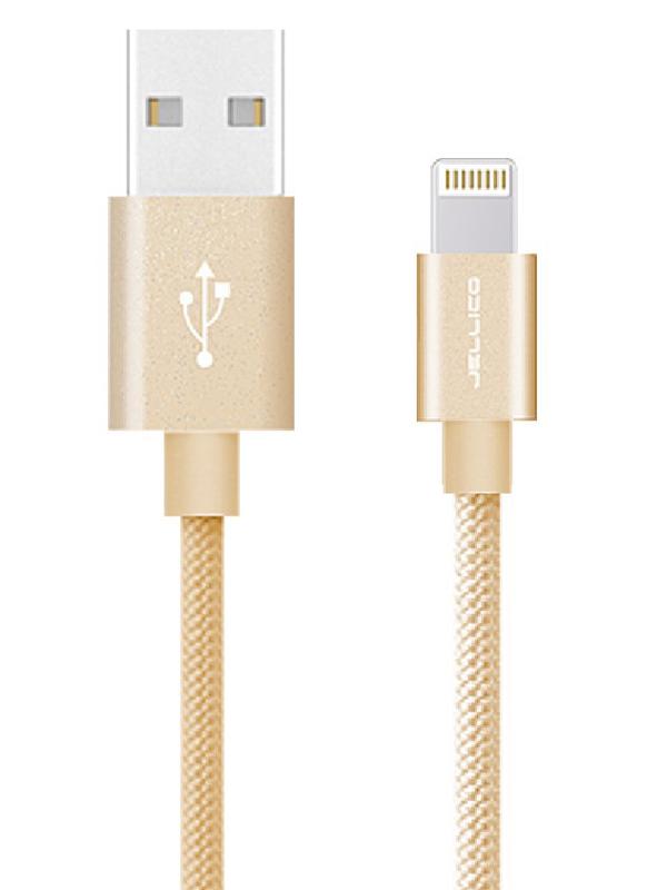 Аксессуар Jellico GS-20 USB - Lightning 2m Gold