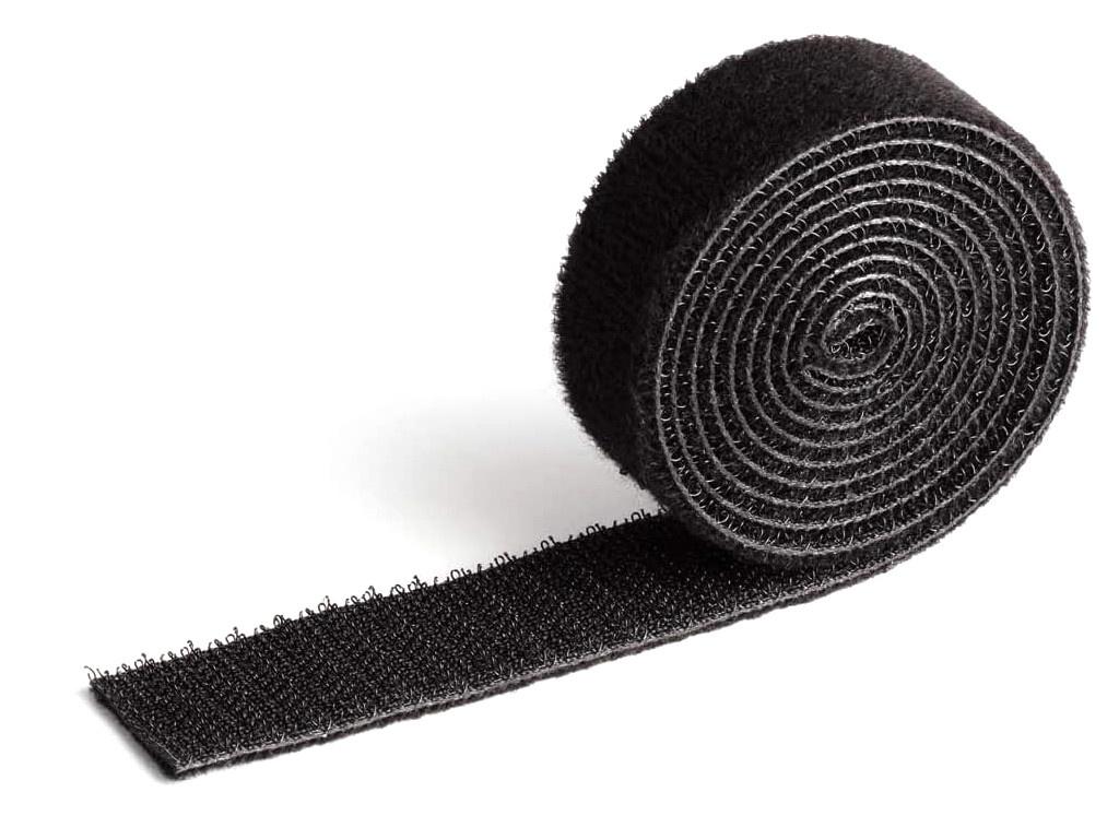 Фото - Лента на липучке для фиксации кабеля Durable Cavoline Grip 1000х20mm Black 503201 лента на липучке для фиксации кабеля durable cavoline grip 1000х20mm black 503201