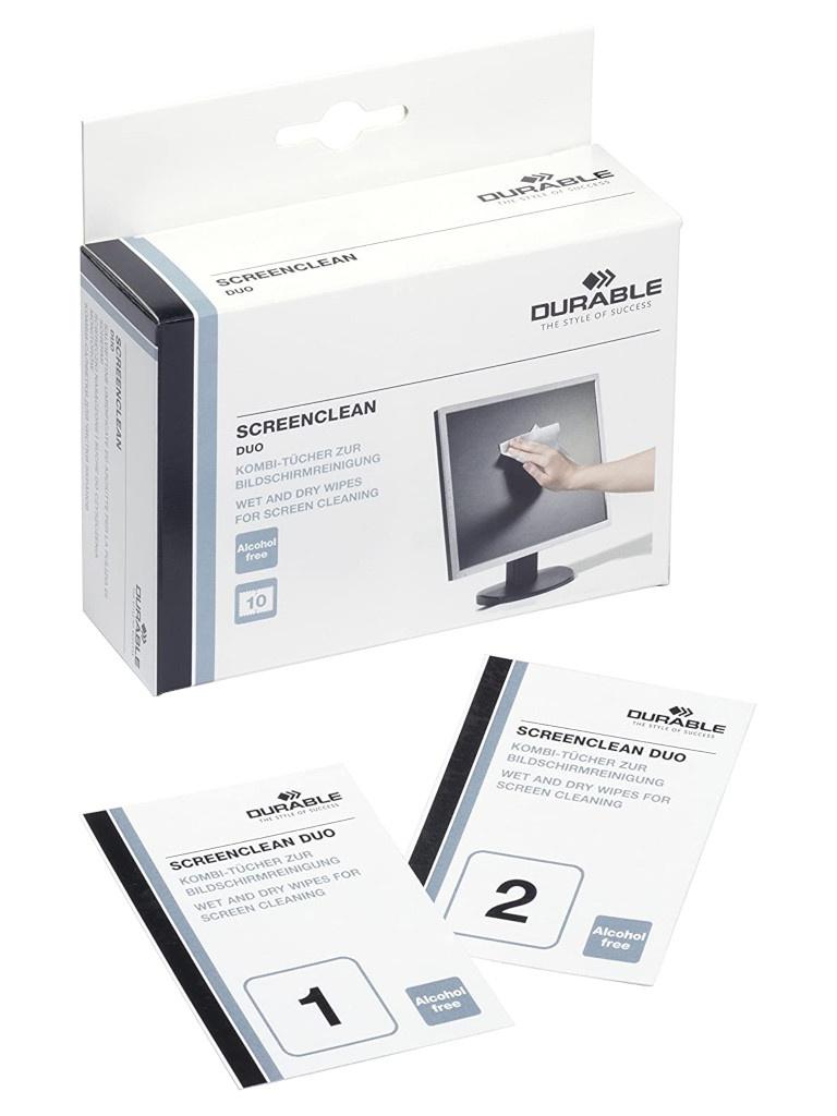 Набор салфеток Durable Screenclean Duo 572102