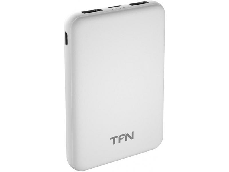 Внешний аккумулятор TFN Power Bank Slim Duo 5000mAh White TFN-PB-201-WH