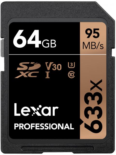 Фото - Карта памяти 64Gb - Lexar SDXC Class10 U3 LSD64GCB633 карта памяти 256gb lexar compact flash 3500x lc256crbeu350
