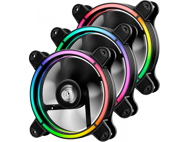 Вентилятор Enermax T.B. RGB 120mm 3-pack UCTBRGB12-BP3 вентилятор enermax ucsqargb12p bp3 squa 120mm pwm rgb 3 pack
