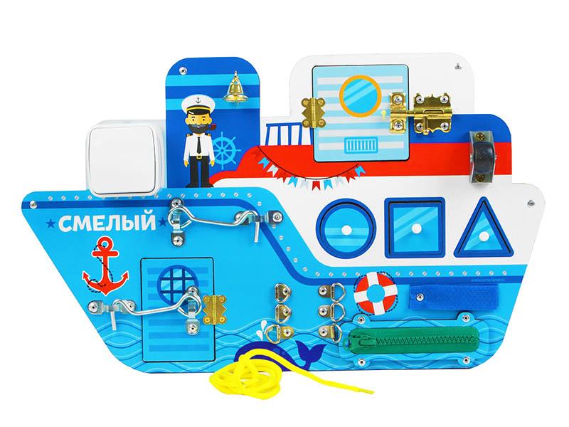 Бизиборд Лесная мастерская Корабль 4284637