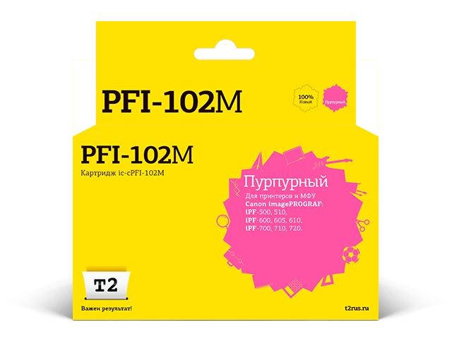 Картридж T2 IC-CPFI-102M Magenta для Canon imagePROGRAF iPF-500/510/600/605/610/700/710/720