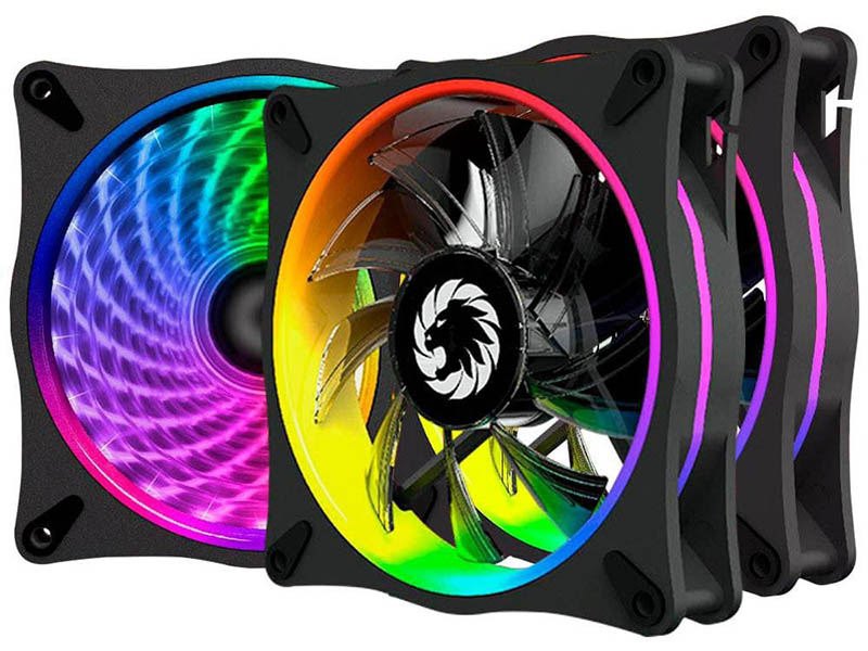 Вентилятор GameMax 120mm 3-pack RL300 вентилятор enermax ucsqargb12p bp3 squa 120mm pwm rgb 3 pack