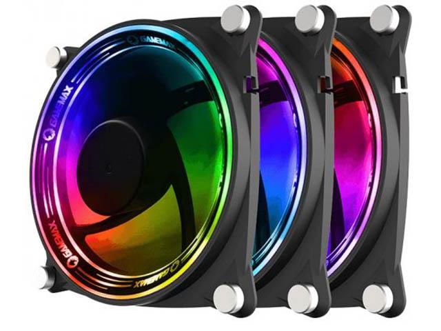 Вентилятор GameMax 120mm 3-pack RB300 вентилятор enermax ucsqargb12p bp3 squa 120mm pwm rgb 3 pack