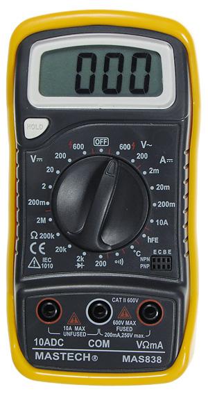 Мультиметр Mastech MAS838