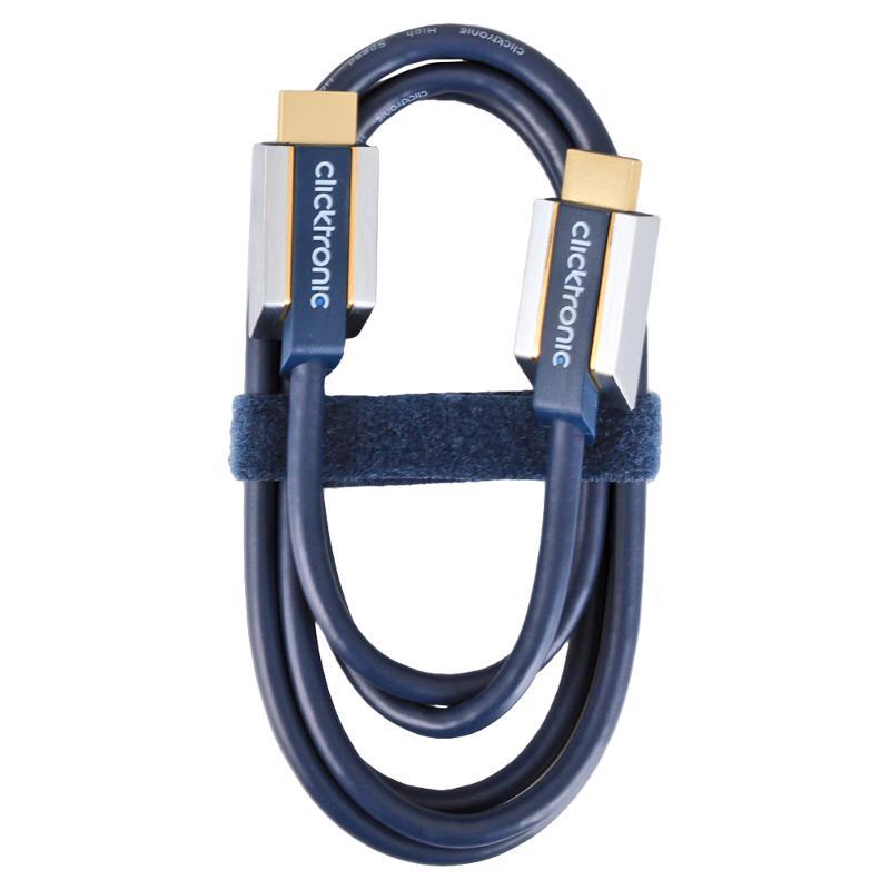 Аксессуар Clicktronic HDMI / HDMI Ethernet HD/3D-TV 1.5m 70502