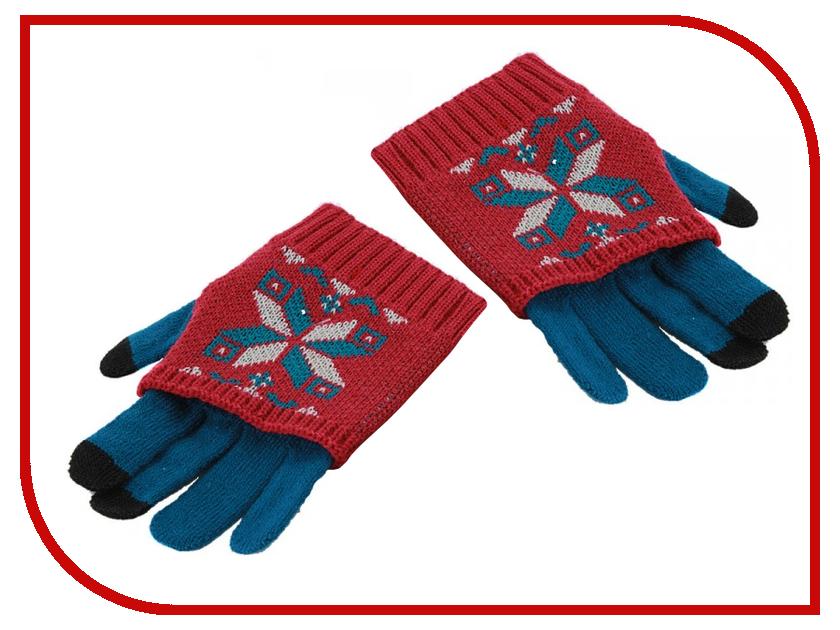 Теплые перчатки для сенсорных дисплеев Harsika J101 р.42.1 Green-Bordo 1213