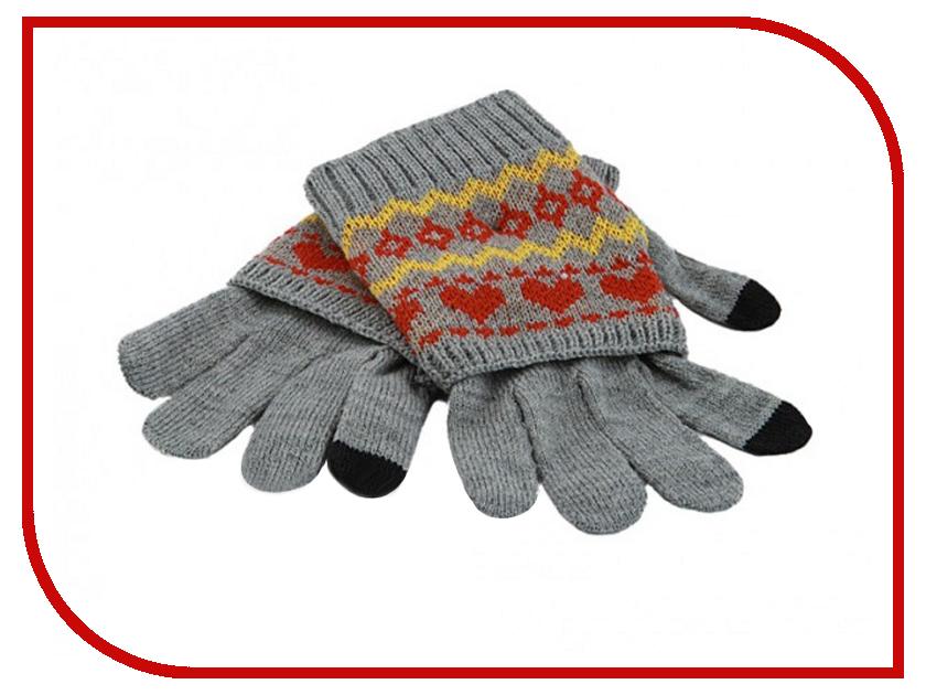 Теплые перчатки для сенсорных дисплеев Harsika J102-44.2 Grey<br>