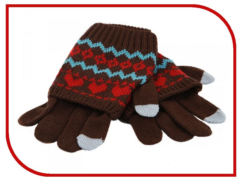 Теплые перчатки для сенсорных дисплеев Harsika J102-44.3. Brown<br>