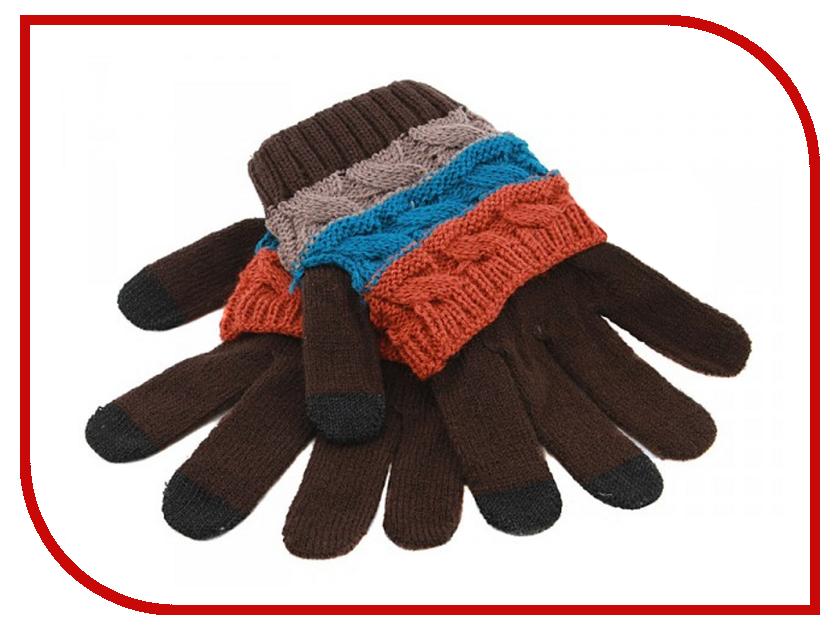 Теплые перчатки для сенсорных дисплеев Harsika J104-43.4 Brown