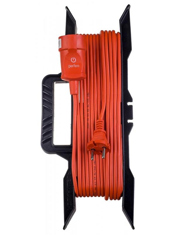 Удлинитель на рамке без заземления Perfeo RuPower 1 Sockets 10m Orange PF_C3265