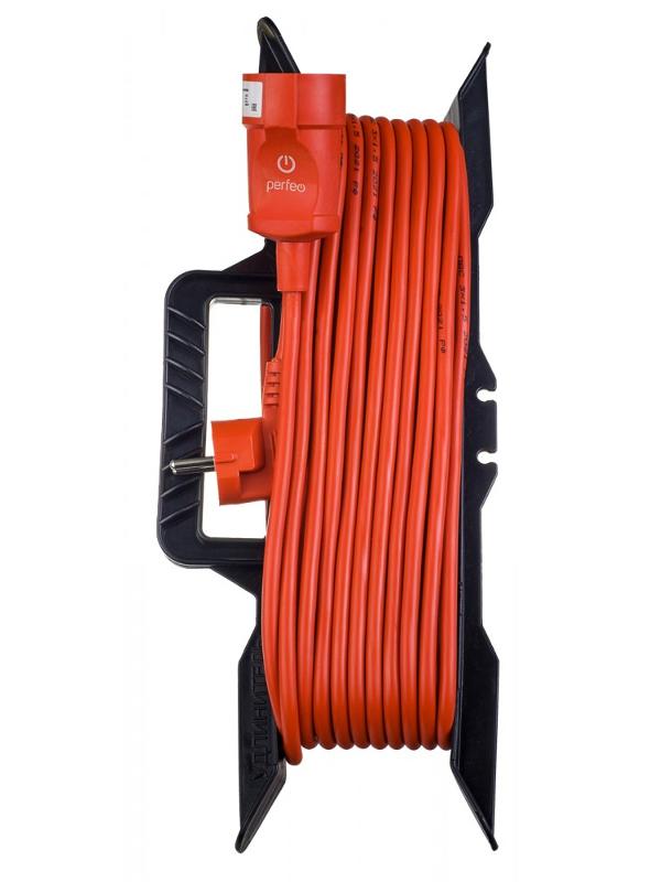 Удлинитель на рамке без заземления Perfeo RuPower 1 Sockets 10m Orange PF_C3281