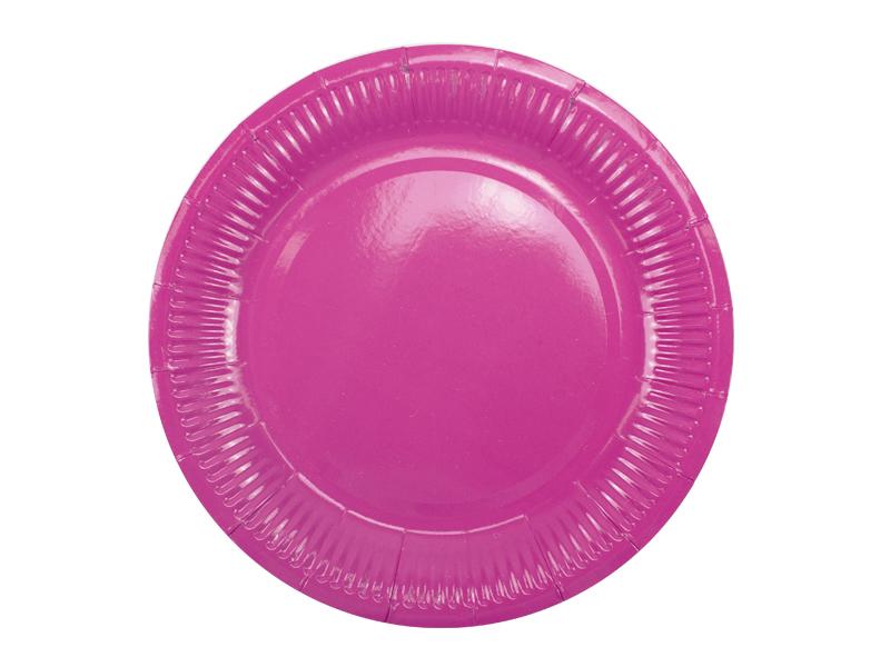 Набор бумажных тарелок Пати Бум 18cm 6шт Hot Pink 6056698