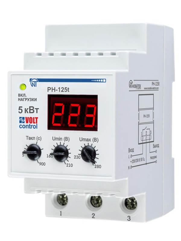 Реле контроля напряжения Новатек-Электро PH-125Т 3425600125т