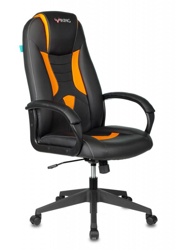 Фото - Компьютерное кресло Бюрократ Viking-8N/BL-OR 1364187 Выгодный набор + серт. 200Р!!! компьютерное кресло chairman game 17 black grey 00 07024558 выгодный набор серт 200р