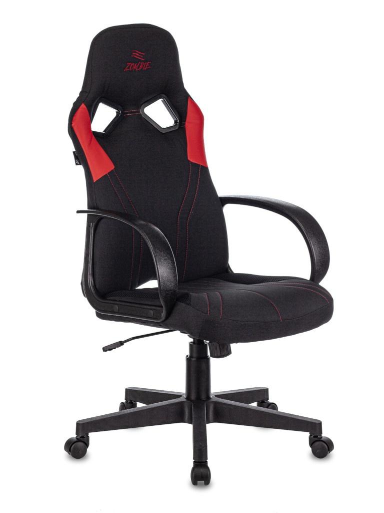 Фото - Компьютерное кресло Бюрократ Zombie Runner Black-Red Выгодный набор + серт. 200Р!!! компьютерное кресло chairman game 17 black grey 00 07024558 выгодный набор серт 200р