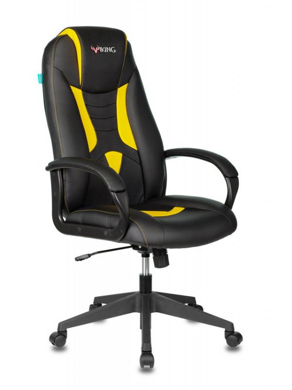 Фото - Компьютерное кресло Бюрократ Viking-8N/BL-YELL 1361968 Выгодный набор + серт. 200Р!!! компьютерное кресло chairman game 17 black grey 00 07024558 выгодный набор серт 200р