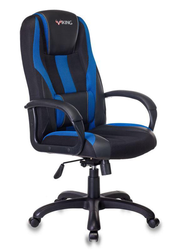 Фото - Компьютерное кресло Бюрократ Viking-9 Black-Blue /BL+BLUE Выгодный набор + серт. 200Р!!! компьютерное кресло chairman game 17 black grey 00 07024558 выгодный набор серт 200р