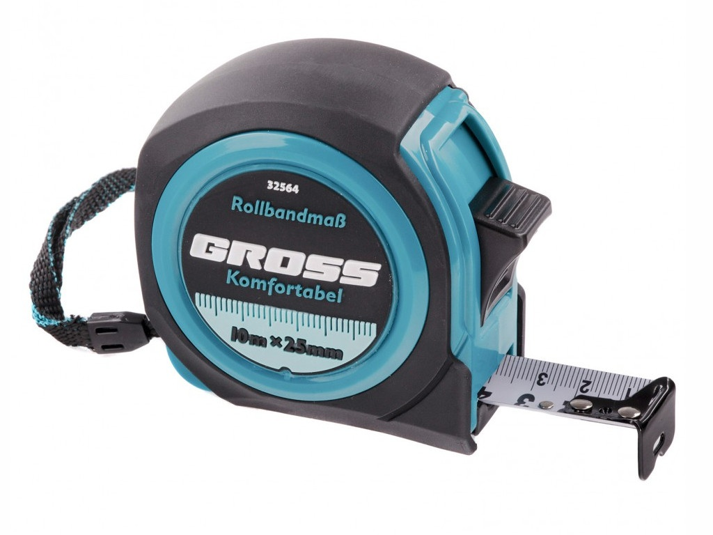 Рулетка Gross Komfortabel 10m x 25mm 32564