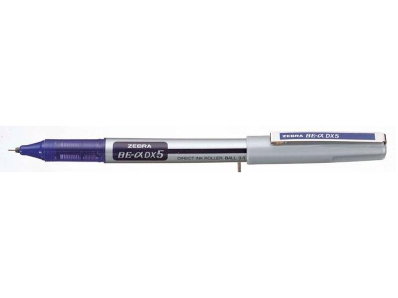 Ручка-роллер Zebra Zeb-Roller BE& DX5 0.5mm корпус Silver, стержень Blue EX-JB4-BL