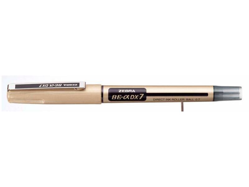 Ручка-роллер Zebra Zeb-Roller BE& DX7 0.7mm корпус Gold, стержень Black EX-JB5-BK