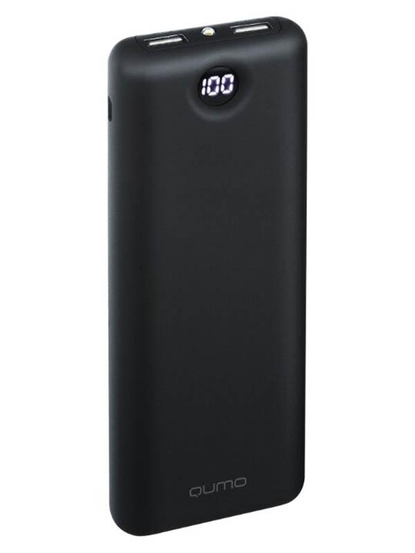 Внешний аккумулятор Qumo PowerAid 15600 V2 (24409), черный