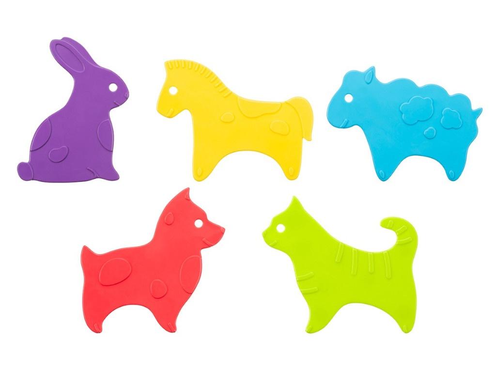 Антискользящие мини-коврики для ванны Roxy-Kids Animals 5шт RBM-010-CG