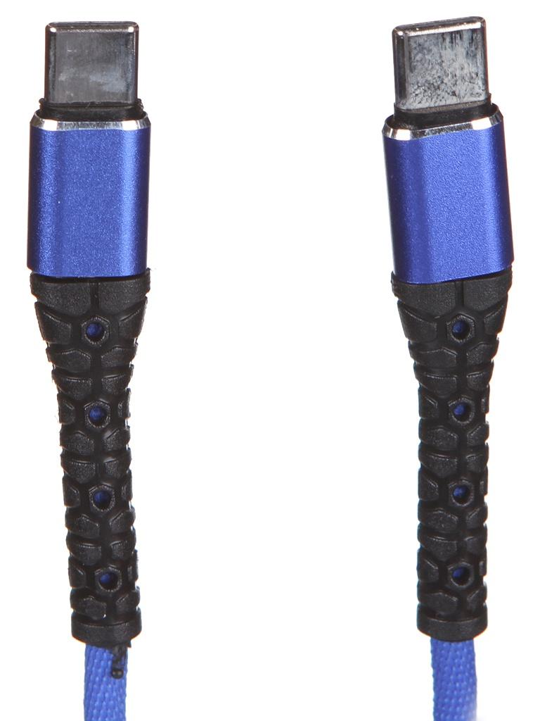 Аксессуар mObility Type-C - 3A Blue УТ000024524