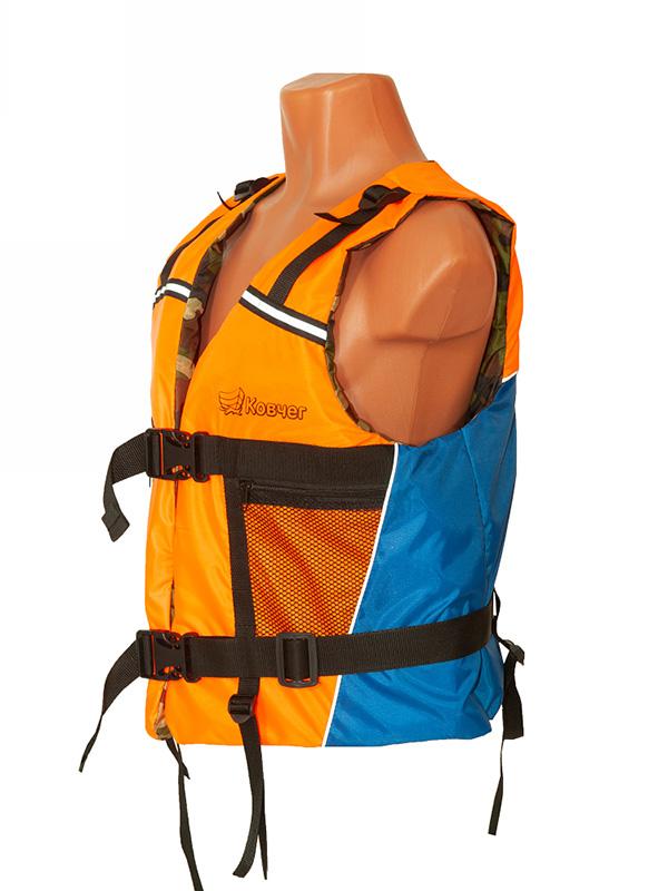 Спасательный жилет Ковчег Тритон р.56-58 (3XL-4XL) Orange-Light Blue-Camouflage