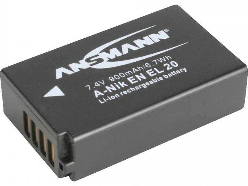 Фото - Аккумулятор Ansmann 1400-0025 (схожий с Nikon EN-EL20) 10655 футляр ansmann akku box 4000033