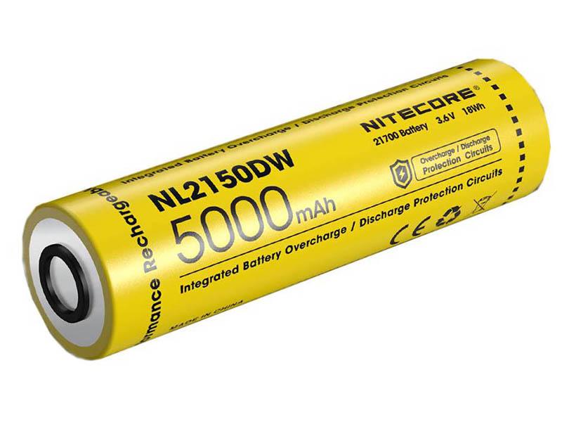 Аккумулятор Nitecore 21700 Li-Ion 5000mAh NL2150DW / 1404772