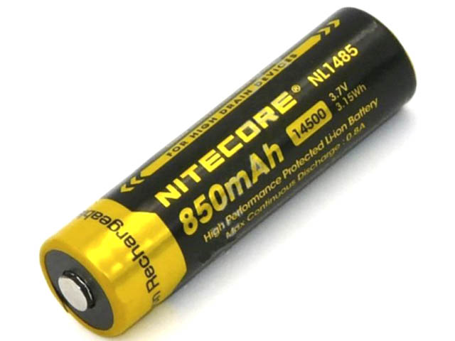 Аккумулятор 14500 - Nitecore NL1485 Li-Ion 850mAh 9972