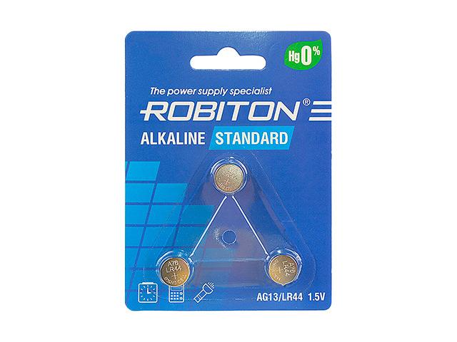 Батарейка LR44 - Robiton Standard R-AG13-0-BL3 (3 штуки) 17511