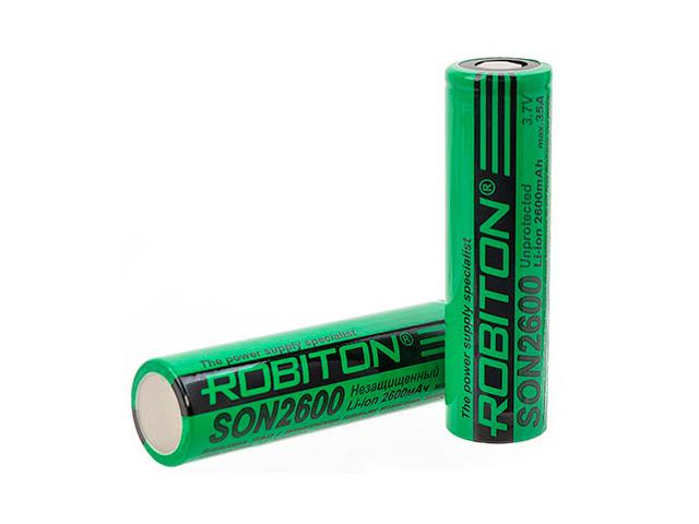 Аккумулятор 18650 - Robiton 2600mAh SON2600 35А PK1 (1 штука) 15699