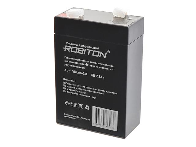 Аккумулятор Robiton VRLA6-2.8 2800mAh 7625