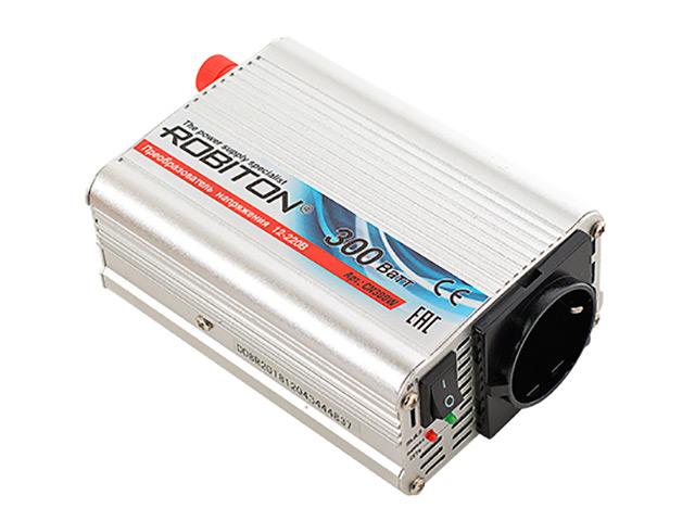 Автоинвертор Robiton CN300W (300Вт) с 12В на 220В 15836
